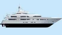 Rendering of the motor yacht Katie Sue II